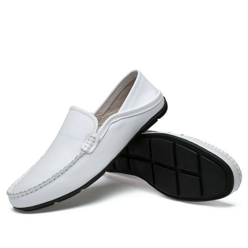 Mens Loafers Flats Doug shoes Round Toe Slip on Solid Business Leather Outdoor