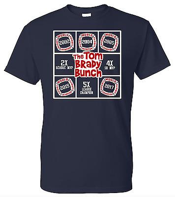 Tom Brady Bunch 5 Time New England Patriots Super Bowl Champion Shirt NFL MVP LI