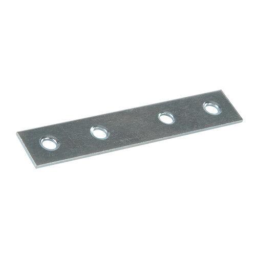Fixman Rectangular Mending Plates 80mm 100mm Zinc Plated Steel 844905 673892