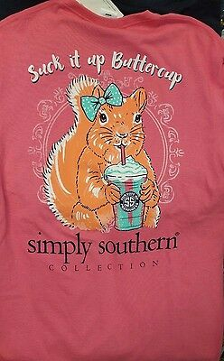 New SIMPLY SOUTHERN SUCK IT UP BUTTERCUP  SHIRT
