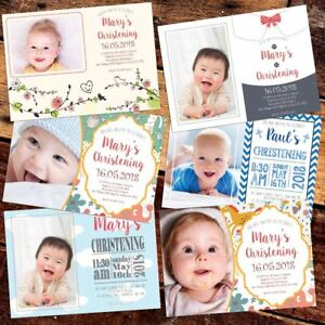 Personalised-Invitations-card-pack-Christening-Baptism-x-10-20-30-40-Boy-Girl