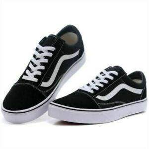 Details zu DE VAN S1 Damen Herren Old Skool Skate Freizeitschuhe Sneaker Canvas Schuhe