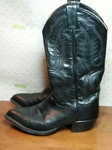 ef61aa72bad Tony Lama Western Style 2923 Black Leather Cowboy Boots Men's 6.5 D ...
