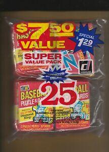 1982-Donruss-Baseball-Fun-Bag-RARE-17-Baseball-4-Zero-Heroes-4-Assorted-Packs