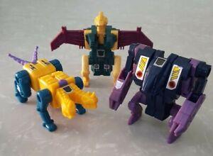 Transformers G1 ABOMINUS Terrorcons Lot Cutthroat, Blot, Sinnertwin