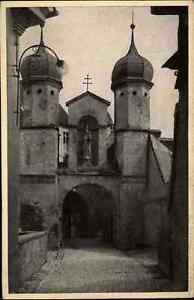 DILLINGEN Donau Strassen Partie am Schloss Heimatbeleg Postkarten Format ~1940