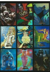 MARVEL-MASTERPIECES-COMPLETE-MARVEL-KNIGHTS-CHASE-SET-9-CARDS-SERIES-3-NM-2008