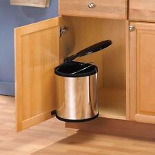 Kitchen Under Sink In Cabinet Trash Can Lid Waste Container Pivot Pull Out 12 qt