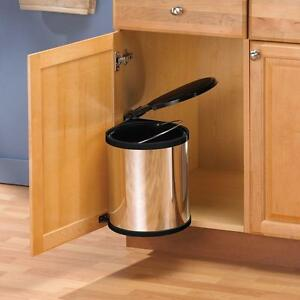 Image Is Loading Kitchen Under Sink In Cabinet Trash Can Lid