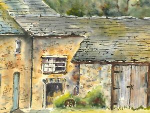 John-A-Case-20th-Century-Watercolour-Cottage-Gardens