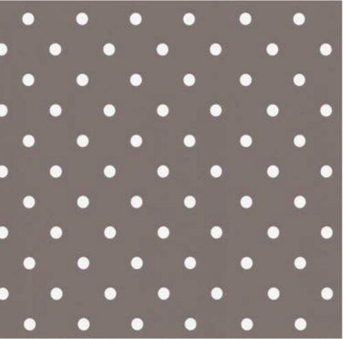Klebefolie Punkte taupe Möbelfolie selbstklebend 45x200 cm Retro Dekorfolie Dots