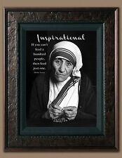 Mother Teresa Inspirational Quote Picture 8X10 New Fine Art Print Photo Jesus