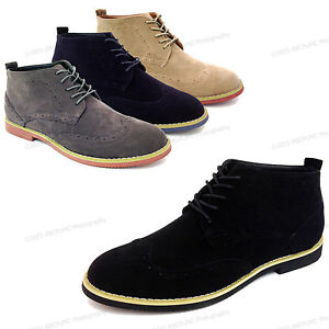 New-in-Box-Homme-Bottines-Bout-D-039-Aile-Lacets-Mode-Derbies-Robe-Decontractee-Chaussures-Tailles