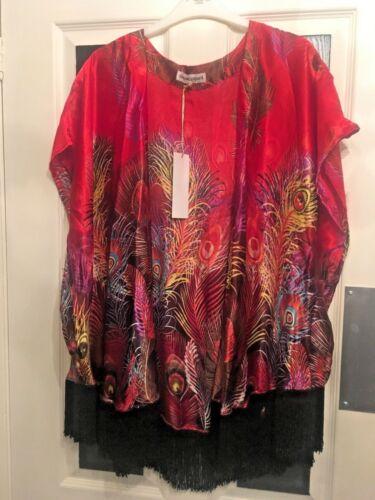 Grand veste danse le L de gland Kimono lᄄᆭopard XL de rouge 16 de 14 paon seta Nouveau dans 12 Uk 5L3jA4Rq