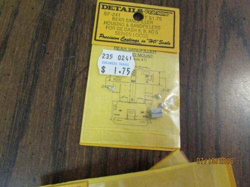 HO SCALE DETAILS WEST SF-241 REAR SAND FILLER FOR GE DASH 8 9 /& SC/'S  BX
