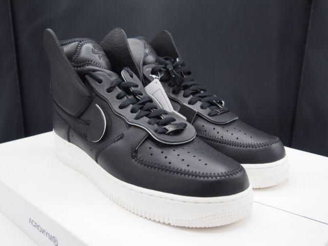 buy popular 98deb 8beeb NikeLab X PSNY Air Force 1 Black Sail Ao9292-002 Men s Size 11.5 US Nike  for sale online   eBay