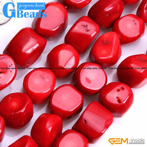 Freefrom-Nugget-Red-Coral-Gemstone-Beads-For-Jewelry-Making-Free-Shipping-15-034