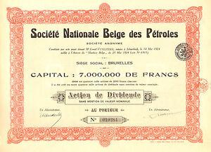 Societe-Nationale-Belge-des-Petroles-SA-accion-de-dividendos-1924