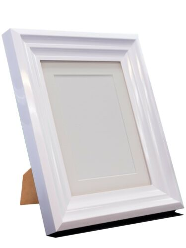 Firenza High Gloss White Picture Photo Frames Available in 36 Different Sizes