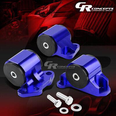 Blue Aluminum 2-Bolt Engine Mount Fit 92-95 Civic EG//EH//-00 Integra DC B//D SWAP
