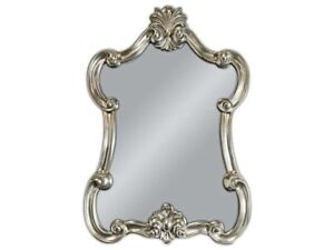 Espejo-de-Pared-Barroco-plata-ovalado-Aspecto-Vintage-ANTIGUO-Rococo-90x60-woe