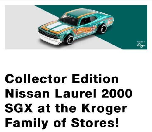 2021 Collector Hot Wheels Nissan Laurel 2000 SGX Kroger Mail-In ***PRESALE***