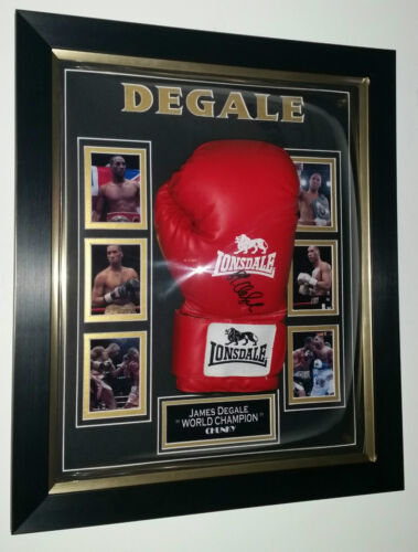 NEW James Degale SIGNED BOXING GLOVE Autograph Display