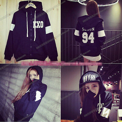 New EXO we are one Luhan long sleeve unisex jacket coat
