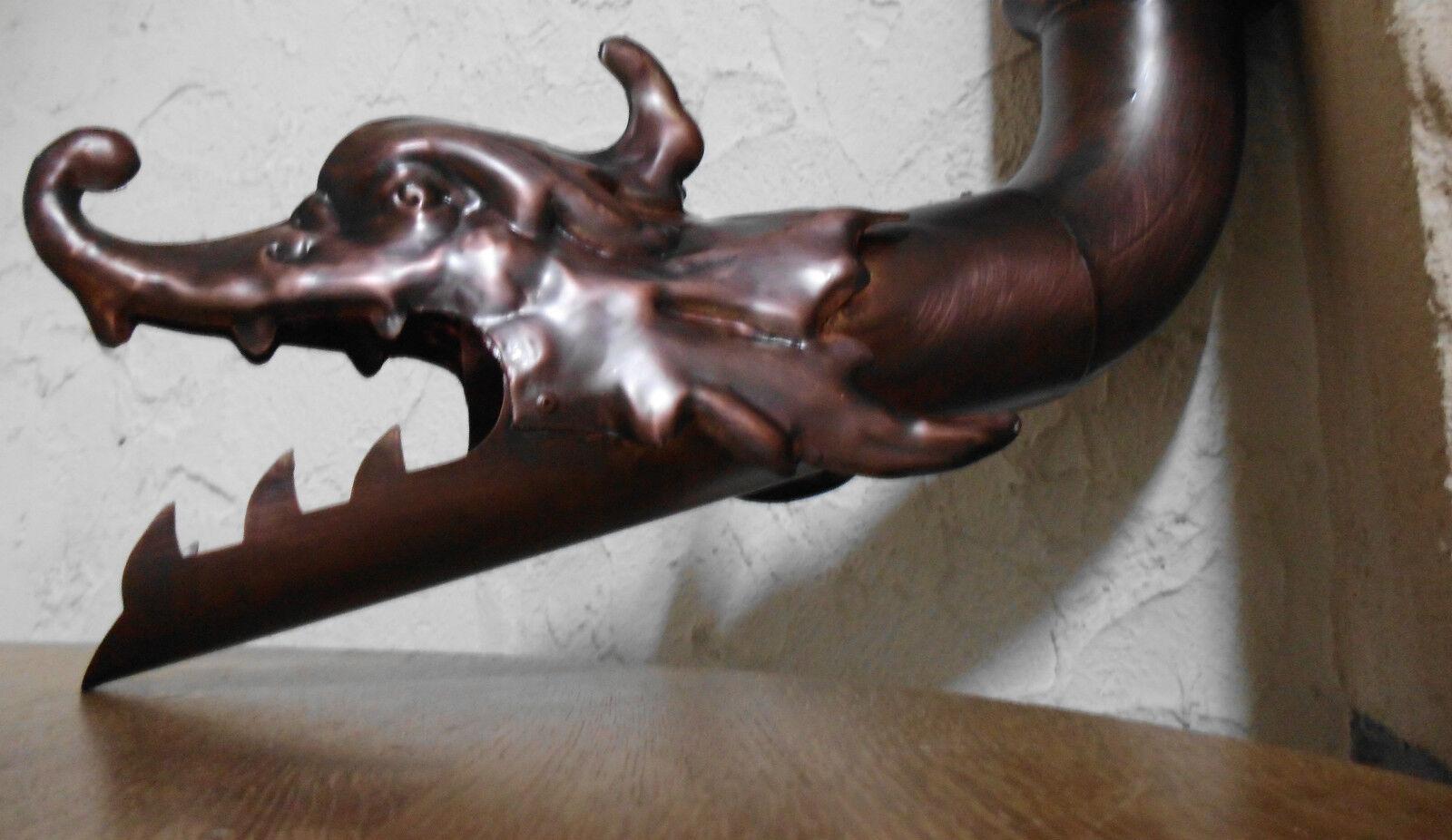 Wasserspeier für Regenrinne DRACHE Kupfer Dachrinne Speier 60,76, 80,87, 100 mm