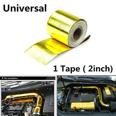 5M RADIANT HEAT PROTECTION UP TO 2000°F Premium Weaved Gold Tape For Car Engine