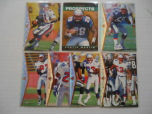 f596b228873 New England Patriots 1995 SP Authentic Team Set Curtis Martin Rc (7 ...