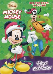 Details About New Mickey Mouse Christmas Coloring Book Deck The Halls