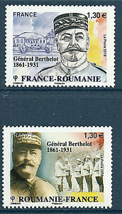 TIMBRES-5288-5289-NEUF-XX-GENERAL-BERTHELOT-EMISSION-COMMUNE-ROUMANIE