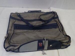 1cd7dbcda04b Vintage American Tourister BLUE ZIPPER HANGERS Pocket Luggage ...