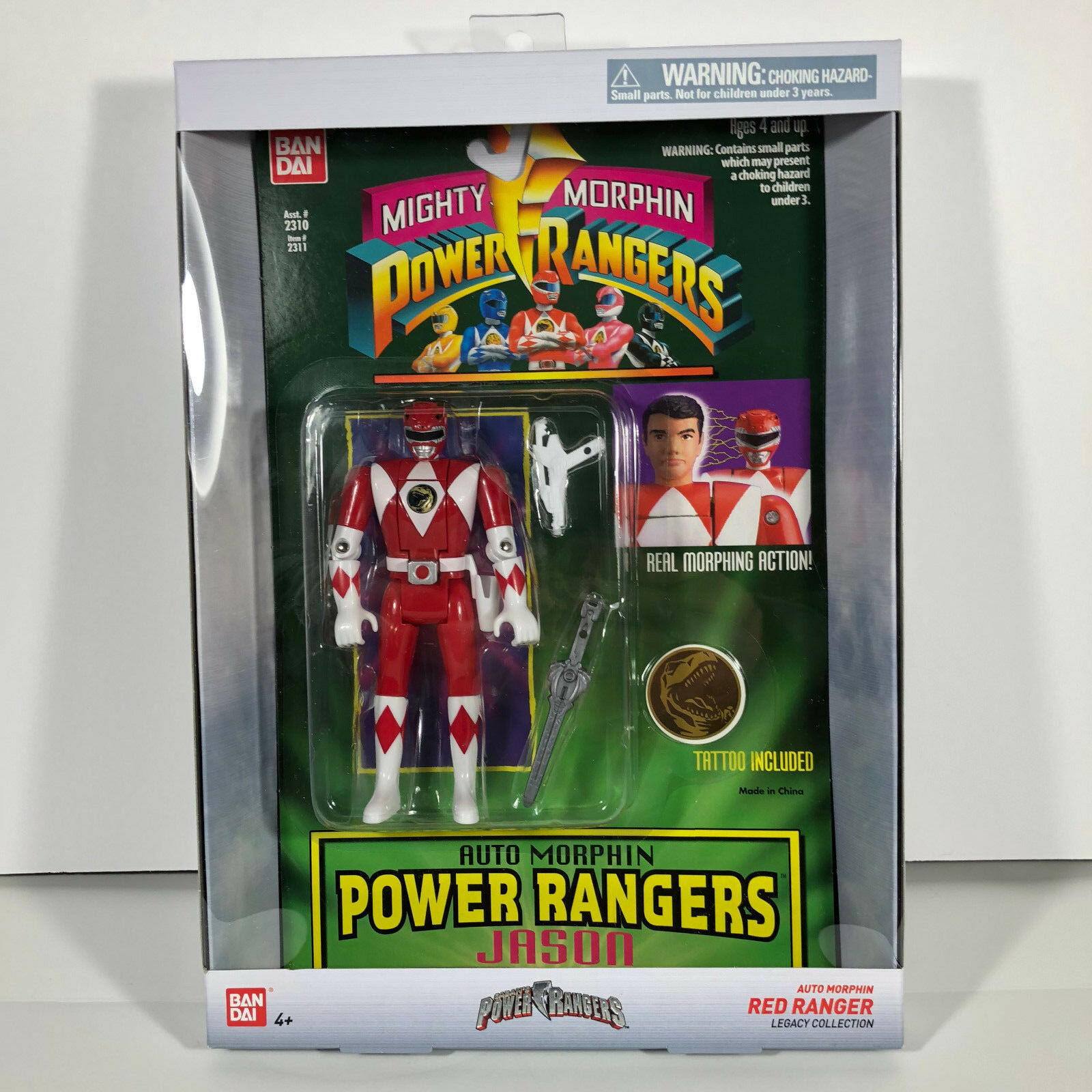 MMPR rot Ranger AUTO Morphin Legacy Collection Mighty Morphin Power Rangers NIB