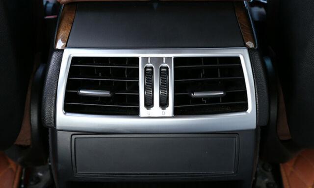 Apoyabrazos Cromo Mate Caja Trasera ac ajuste de Ventilación de Aire Cubierta Para BMW X5 E70 X6 E71 08-13