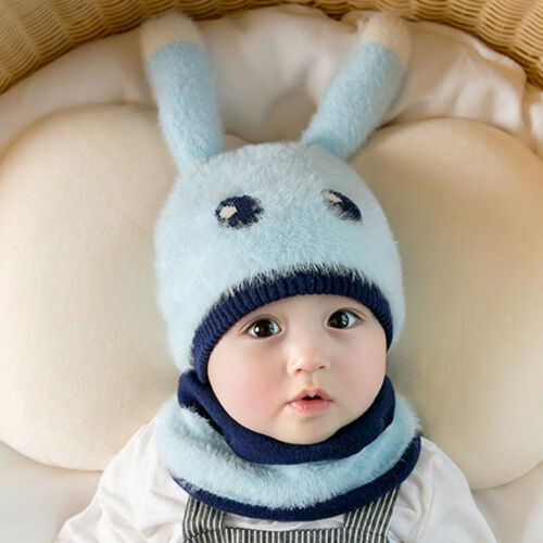Newborn Winter Baby Boys Girls Warm Cartoon Knit Crochet Earmuffs Hat Beanie Cap