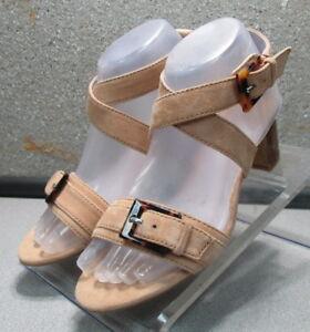 78NP112181-LDFSA30-Women-039-s-Shoes-Size-7-M-Beige-Leather-Sandals-Johnston-Murphy
