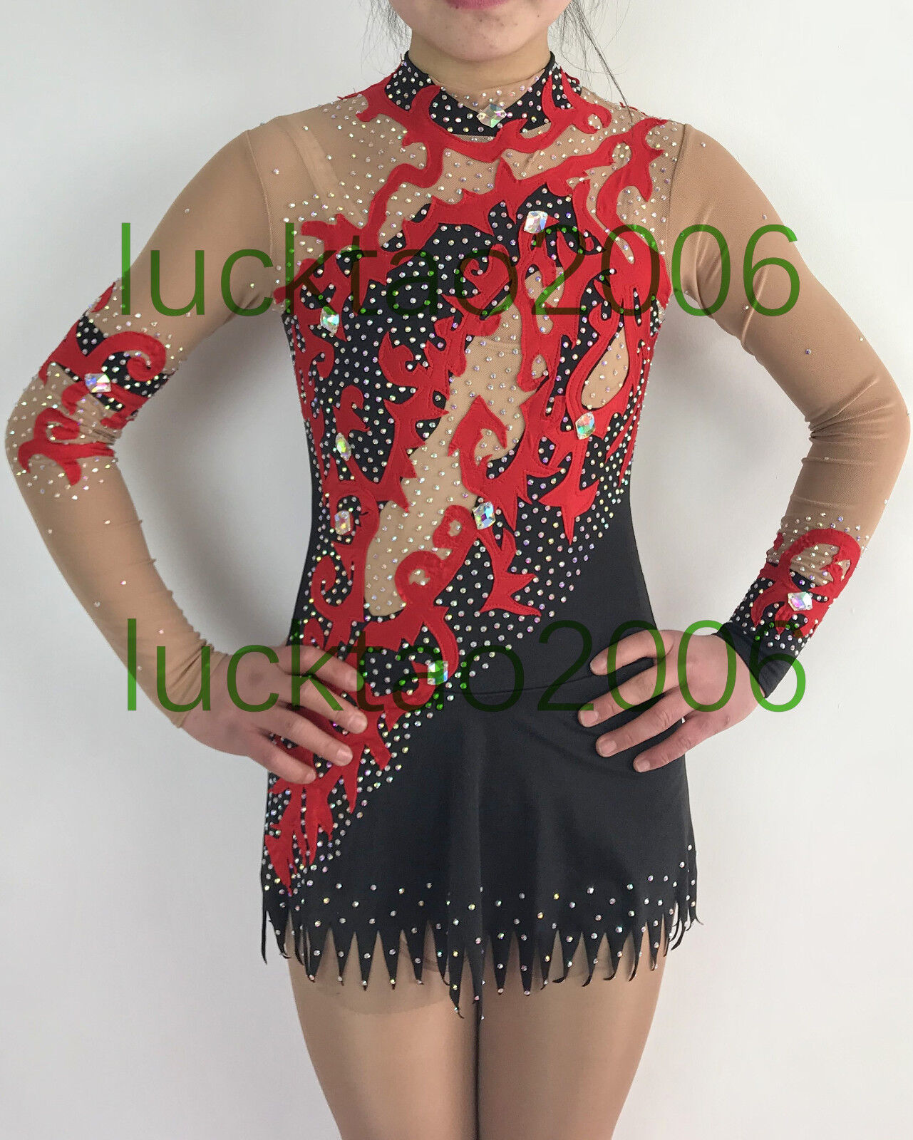 2018 new style Rhythmic Gymnastics Leotards  Ice Figure Skating Dress G507