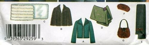 Stole Bag /& Hat Size 6-16 EASY Jacket 14-24 Simplicity Sewing Pattern 4355