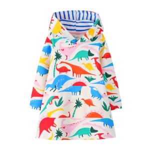 Kinder Mädchen Kleid Sweatkleid Sweatshirt Kapuzenpullover Hoodie Kleid