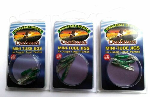 3 PACKAGES Mini Tube Jigs With Hooks Size 1//64 Christmas Tree Item Jig 16