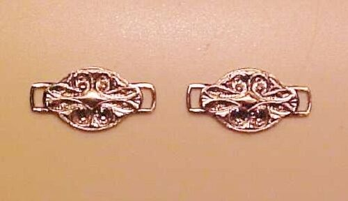 in 1:9 Model Horse//Rider Scale SILVER-TONED Pair Style 1 FANCY OVALS WITH TABS