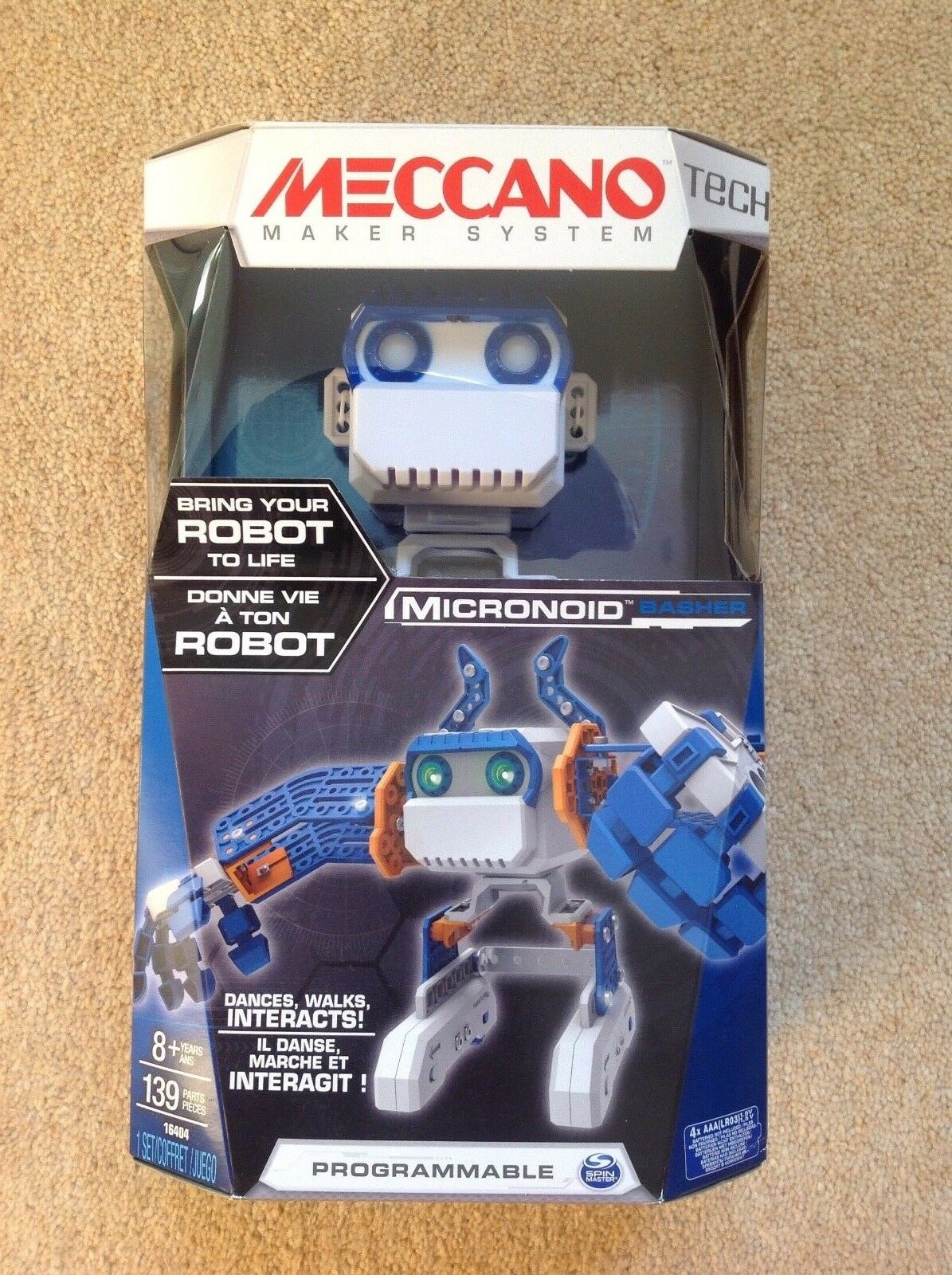 Meccano Micronoid bluee Basher Programmable Interactive Robot BNIB