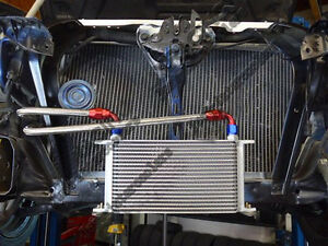 16 Row Oil Cooler Kit For NISSAN Silvia S13 S14 180SX 200SX 240SX SR20DET TURBO