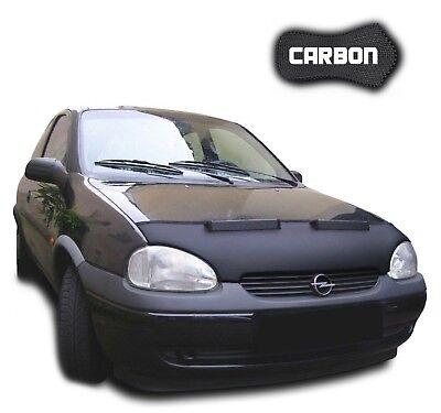 AB-00849c Carbon Fiber Look Hood Bra fit Opel Frontera 1991-2004 Front End Nose Mask Bonnet Bra