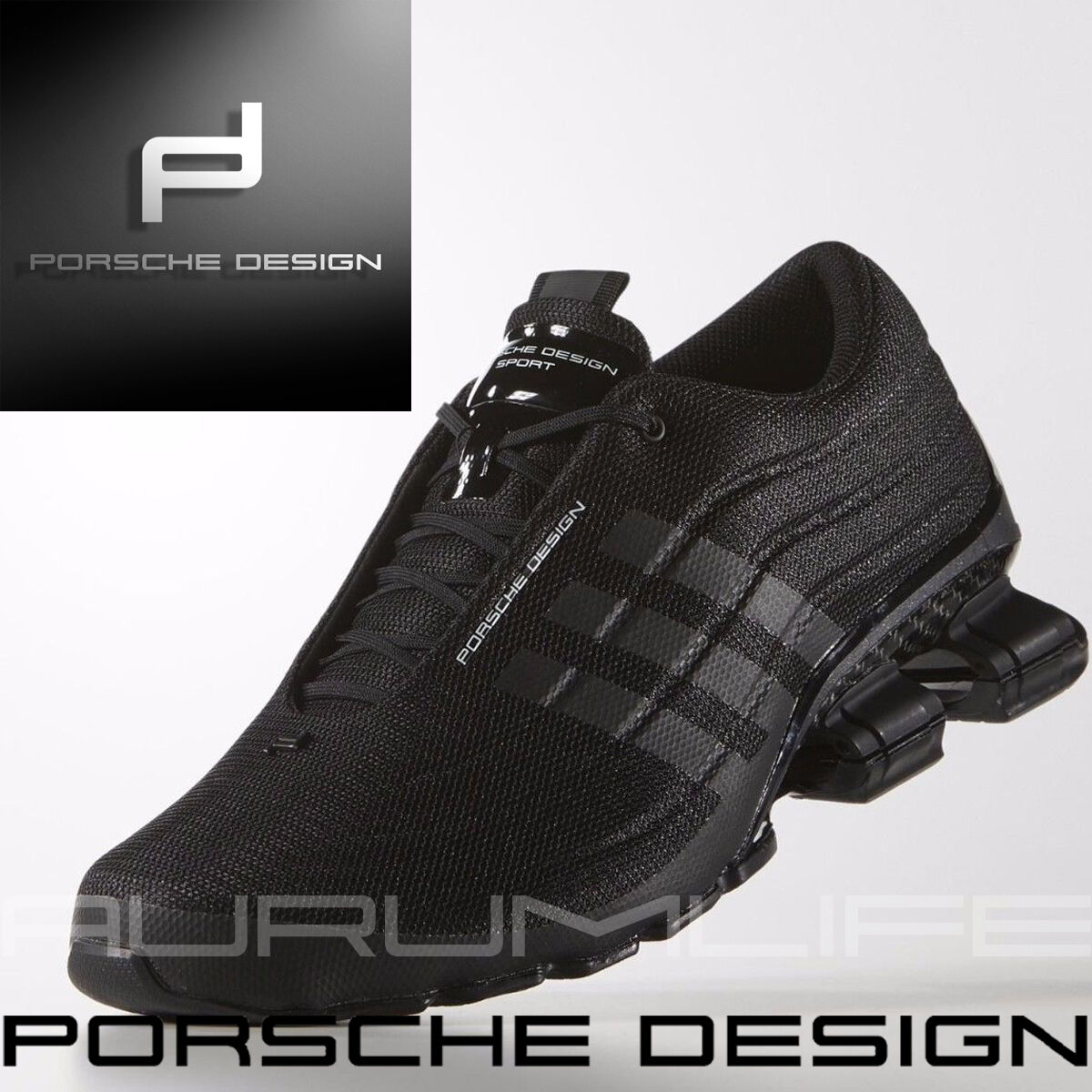 Adidas Porsche Design Bounce Shoes S4 Mens Black SPORT SIZE US 9.5 B35635