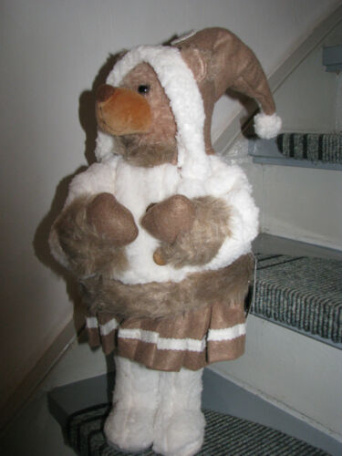 Weihnachtsbärin mit Rock  55cm Frau Bär Weihnachtsdekoration Deko Weihnachten