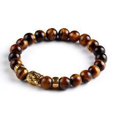 Buddha Meditation Prayer Bead Brown Wooden Stone Bracelet Boho