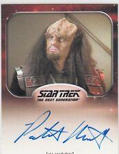 STAR TREK ALIENS - PATRICK MASSETT (DURAS) AUTOGRAPH CARD LIMITED